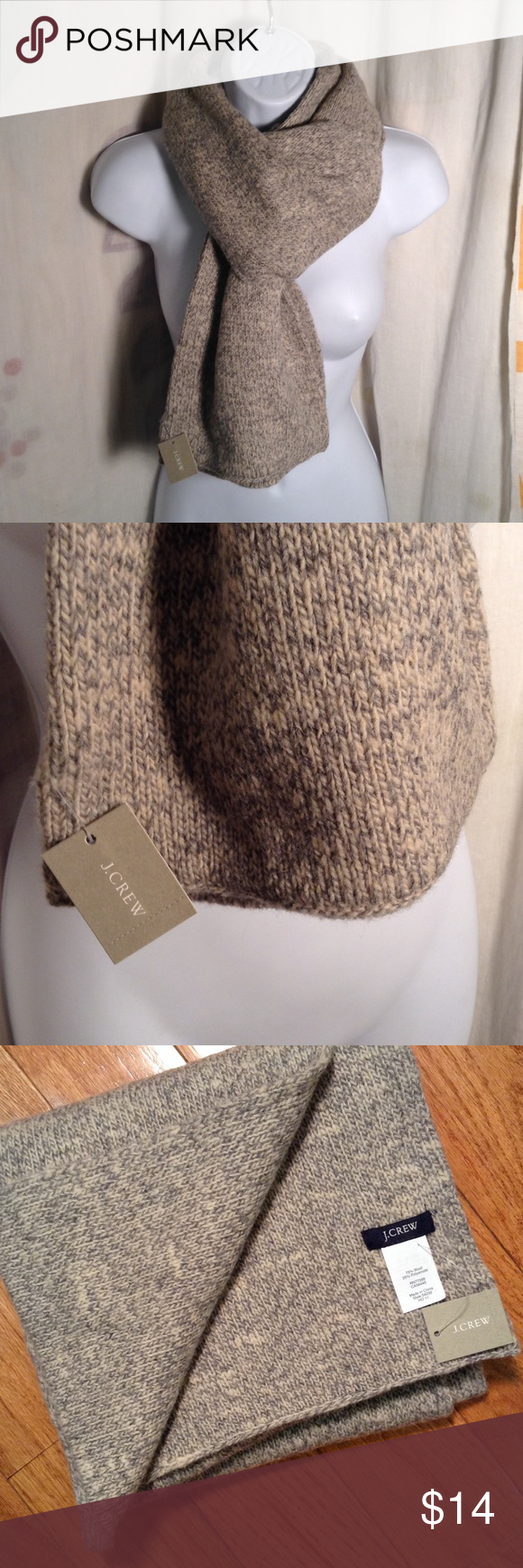 NWT J.Crew Scarf Heathered Gray Wool New With Tag. J.Crew Scarf J. Crew Accessories Scarves & Wraps