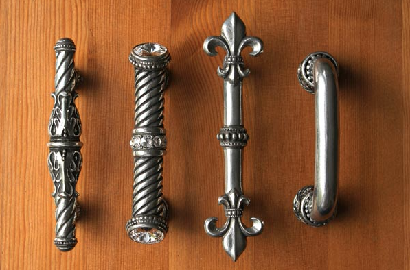 Handmade Lead Free Cast Pewter Cabinet Door And Drawer Pulls