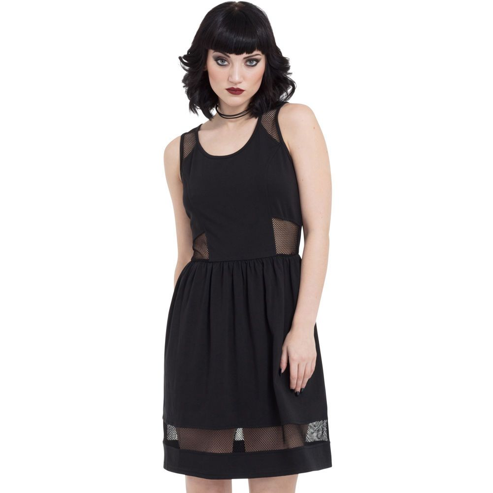 Jawbreaker nasty net dress black goth black goth and products