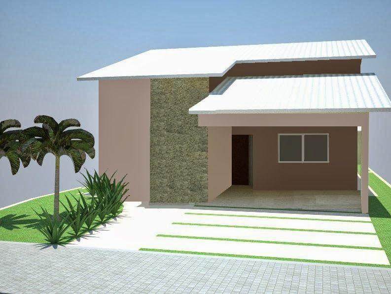 Fachadas de casas simples bonitas e pequenas fachadas for Ideas fachadas de casas pequenas