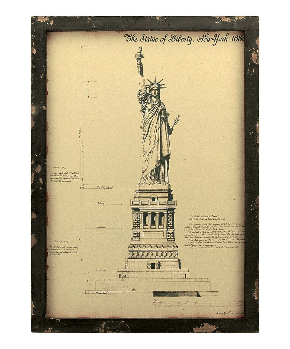 Look what I found on #zulily! Vintage Statue of Liberty Wall Art by ...