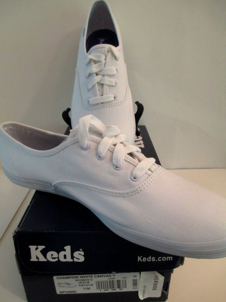 ac3b85b0f05a83 Keds Champion Canvas Sneakers WF 34000 White Womens Size 11  Keds  Sneakers