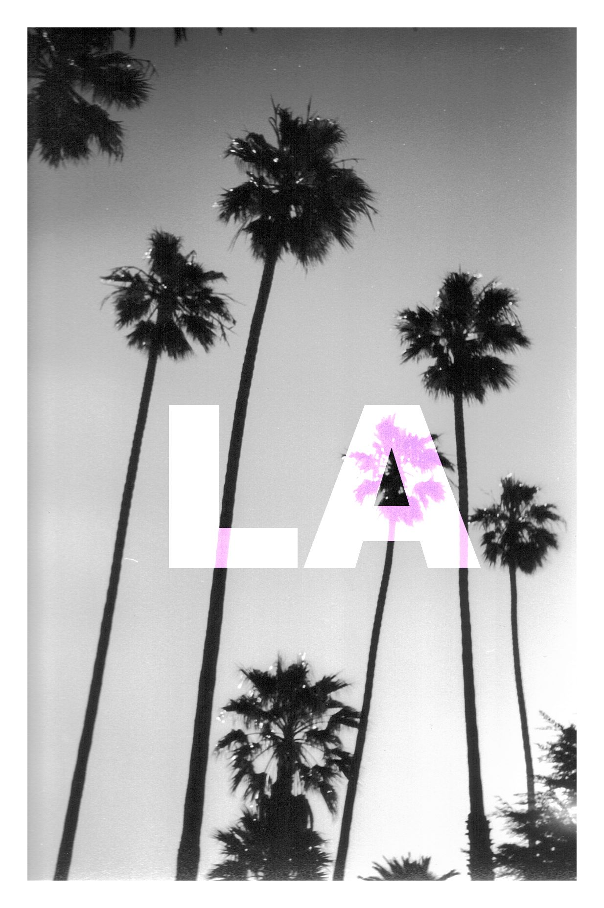 Los Angeles Poster Palm Trees Posters Road Trip Creative Our - Los angeles poster black and white