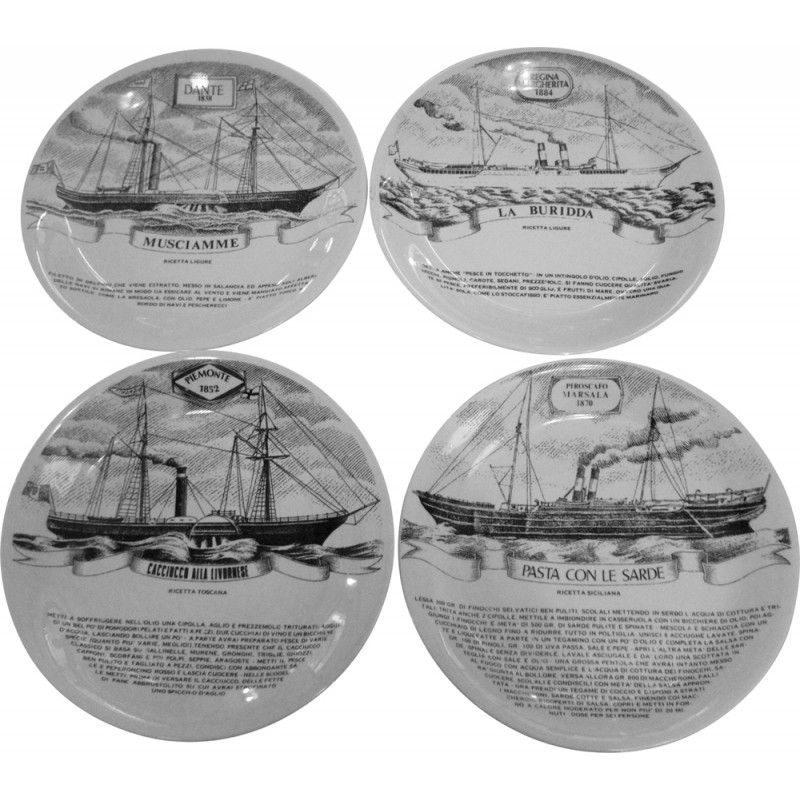 Pin di emanuele cosentino su ceramica e porcellana italiana vintage plates on wall piero - Piastrelle fornasetti ebay ...