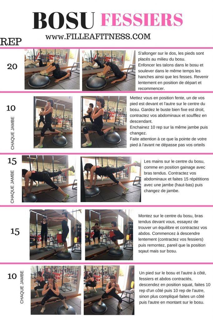 Top Programme BOSU FESSIERS - Fille à fitness | fitness | Pinterest  VW81
