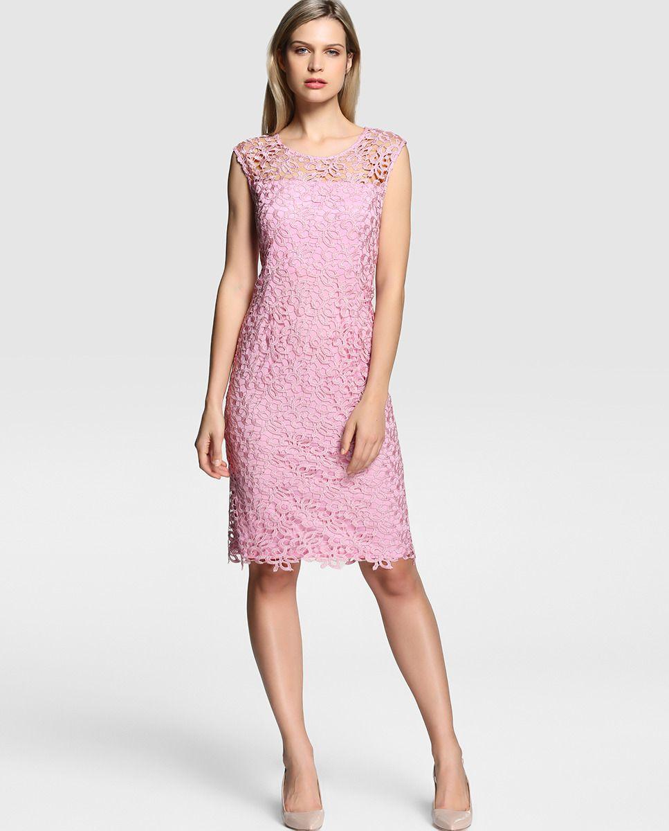 Vestido de guipur de mujer Gina Bacconi sin mangas | STYLES ...
