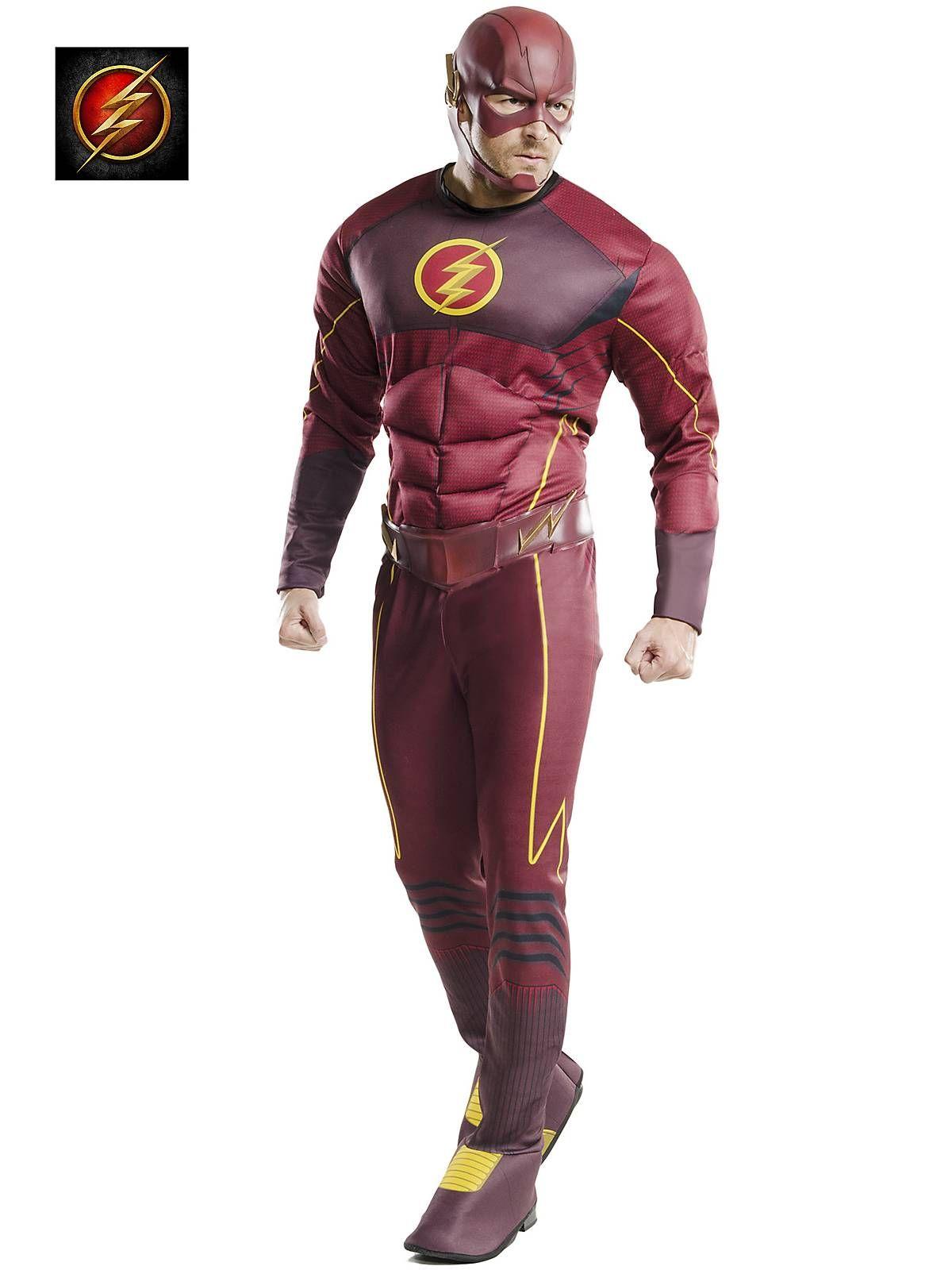 LICENSED THE FLASH MENS SUPERHERO DC COMICS ADULT DRESS UP HALLOWEEN COSTUME
