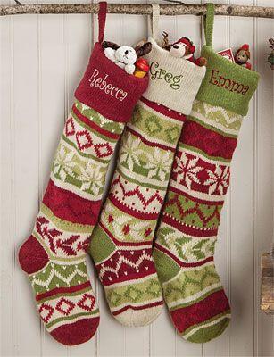 Oversized Knit Christmas Stockings | Holidays: Christmas ...