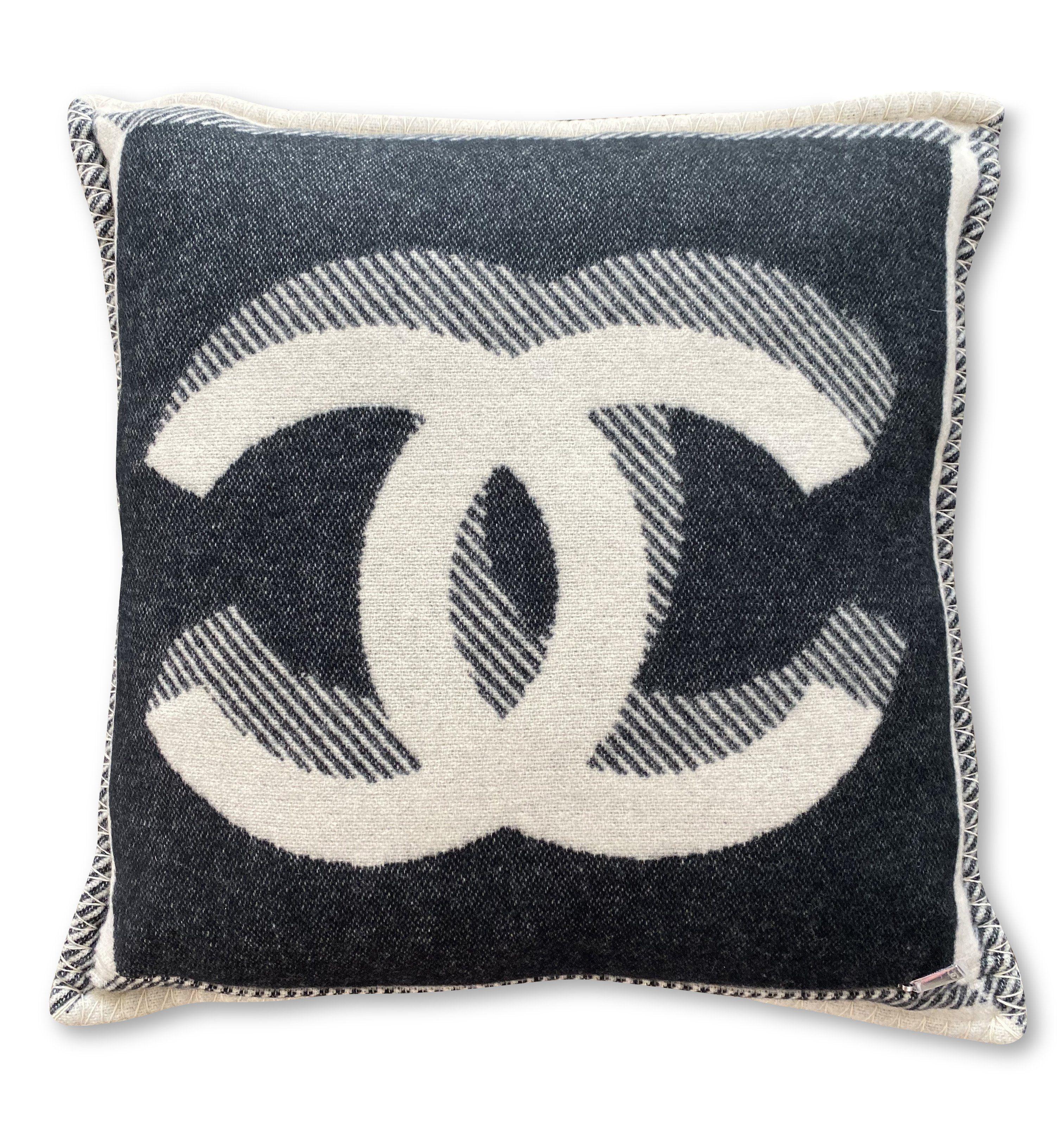 Authentic Chanel Pillow Black Cashmere