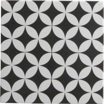 Carrelage sol et mur noir blanc effet ciment gatsby x cm le - Carrelage ciment noir et blanc ...