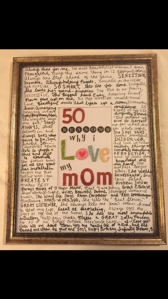 Pin By Kaitlyn On Gift Ideas ツ Christmas Gifts For Mom Mom Birthday Gift Moms 50th Birthday