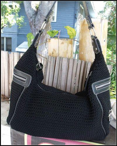 LARGE *The Sak* blk crochet hobo bag! $25.00  or make offer @ Poppyseed store in EBay!
