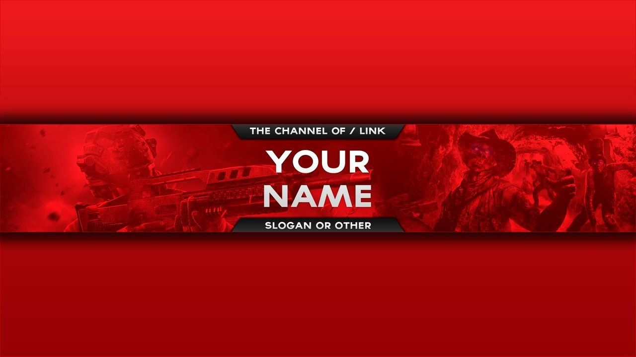 Red Youtube Banner Template Unique Youtube Banner Red and