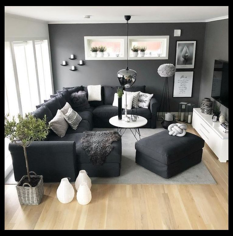 41 Grey Living Room Ideas For Gorgeous And Elegant Spaces 27 Living Ro Living Room Decor Apartment Living Room Design Small Spaces Dark Furniture Living Room Elegant small living room designs