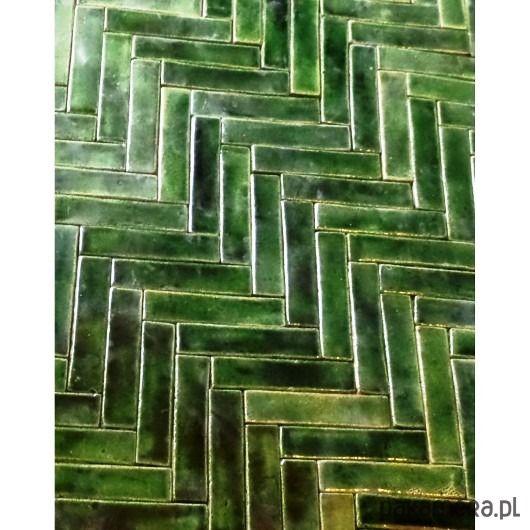 Mozaika Zielona Jodełka Wystròj Domu łazienka Wnętrza I