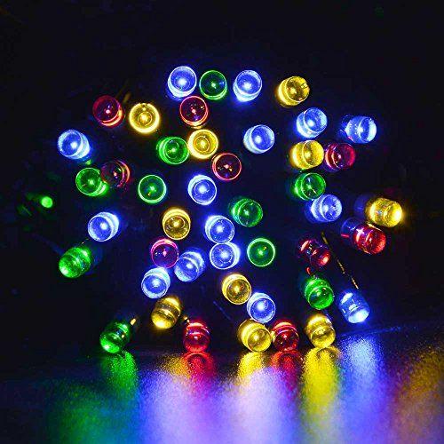 lederTEK Solar Powered Fairy String Lights 39ft 12m 100 LED 8 Modes