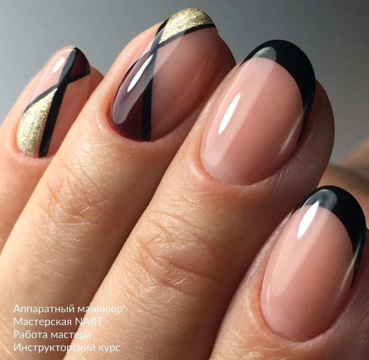 Pin By Cristylet On French Ngel Pinterest Gold Nail And Manicure