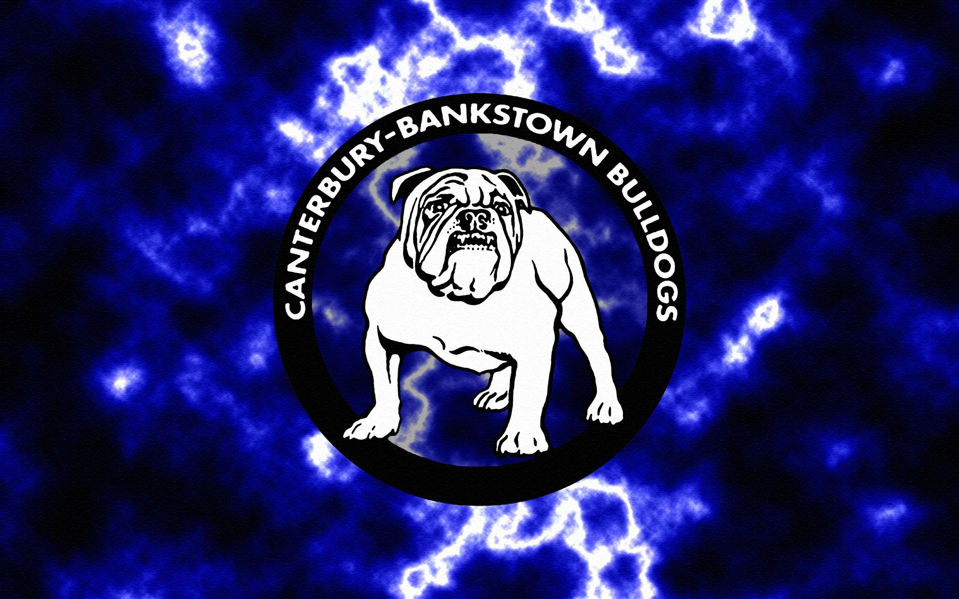 Canterbury-Bankstown Bulldogs Lightning Wallpaper by Sunnyboiiii