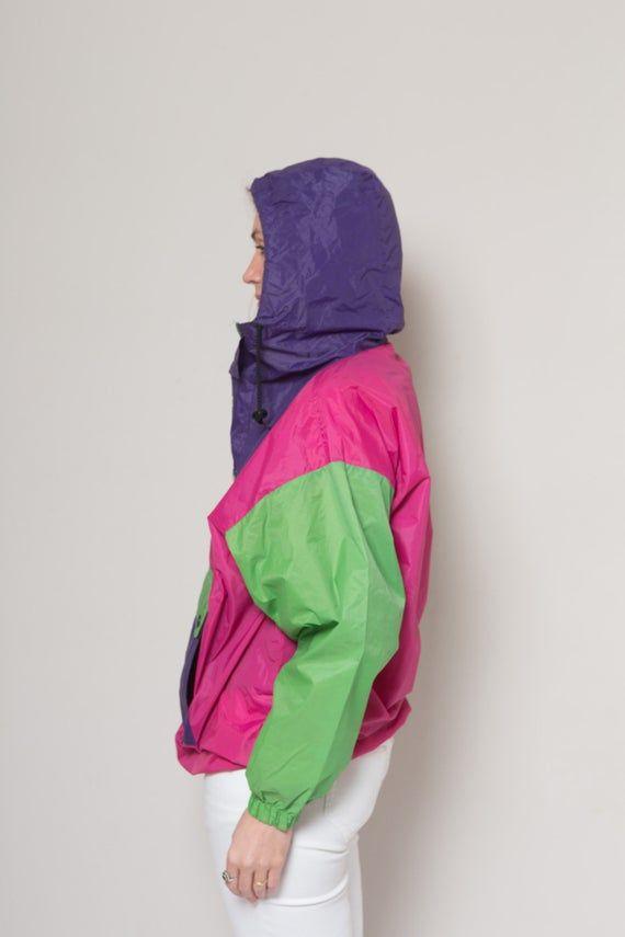 Farbe Block Anorak Jacke Regen Jacke Activewear Sport Jacke