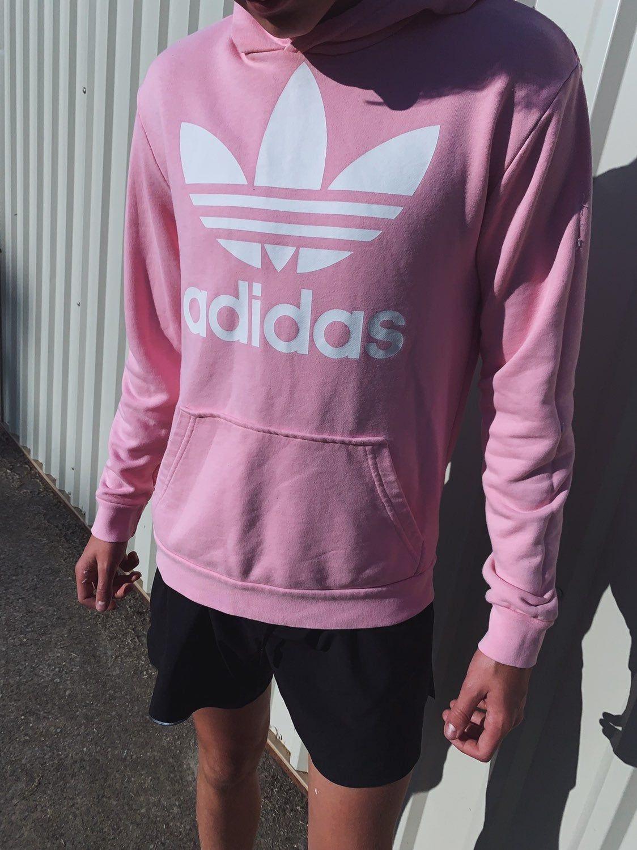 Light Pink Adidas Hoodie Size M Light Pink Adidas Pink Adidas Athletic Jacket [ 1500 x 1124 Pixel ]