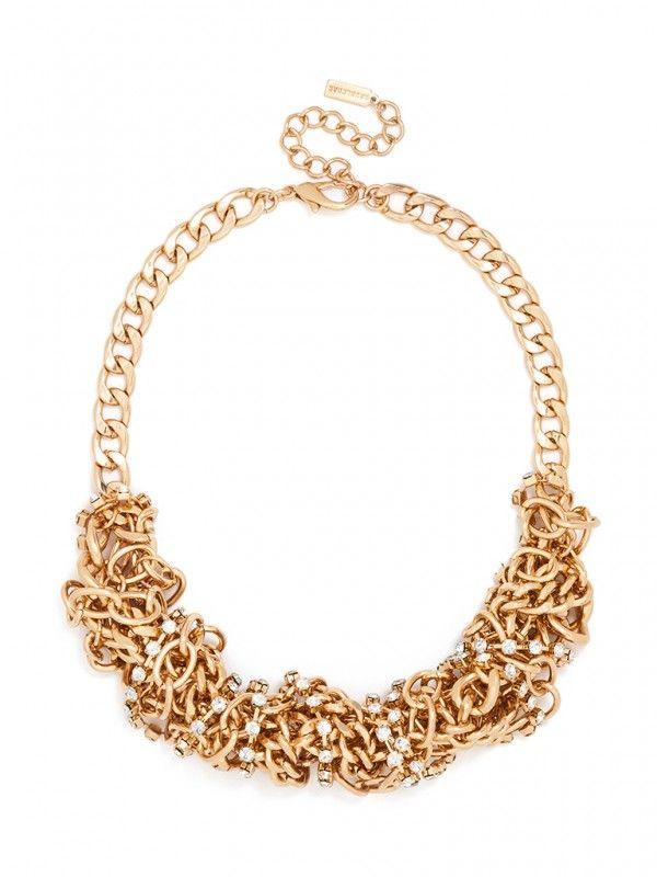 Crystal Tangled Links Necklace | BaubleBar