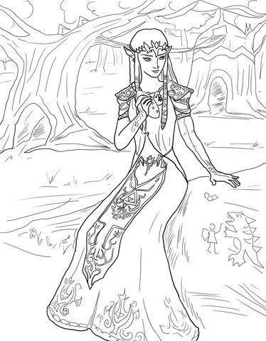 Princess Zelda Coloring Page From The Legend Of Zelda Category Select From 24848 Printable C Princess Coloring Pages My Little Pony Coloring Princess Coloring