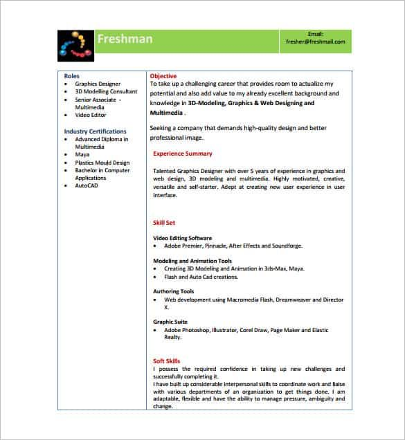 Resume Templates Word Download For Freshers In 2020 Resume