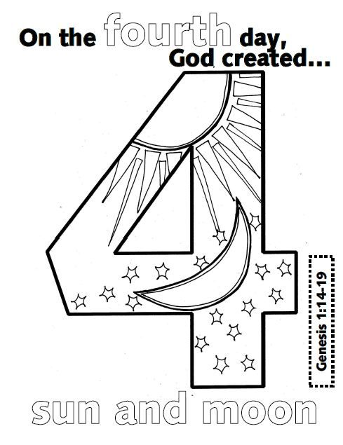 gods creation coloring pages day 2 Creation Day 3