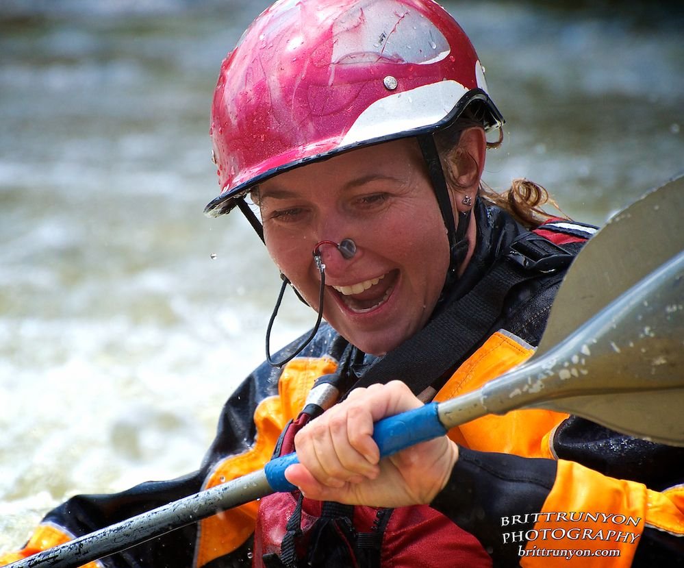 Kayaker Smile at the Mother's Day Rio Grande Whitewater Festival......................... http://brittrunyon.com/