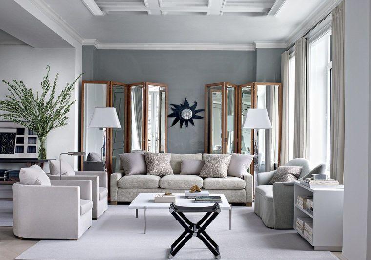 Déco salon gris et blanc  28 modèles élégants