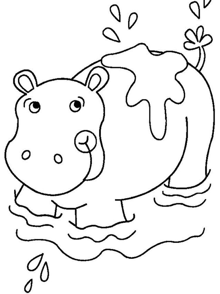 Cute Baby Hippo Coloring Pages Hippo Is A Large Semi Aquatic Mammals That Inhabit Mostly In Africa They Usu Hippo Crafts Animal Coloring Pages Coloring Pages