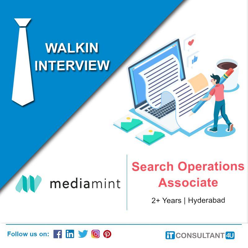 Mediamint Is Hiring Searchoperationsassociate Itconsultant4u Help Finding A Job Job Posting Digital Marketing