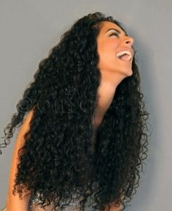 Curly Addiction 3b Machine Weft With Images Curly Hair Styles