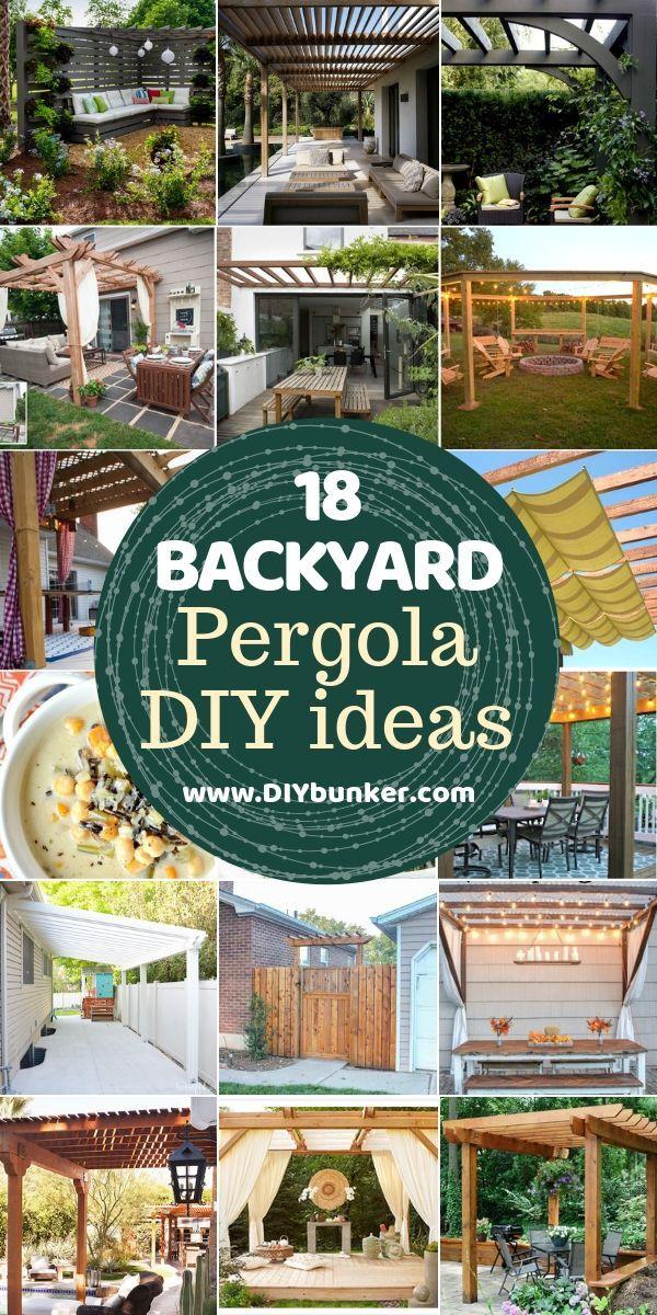 18 Pergola-Ideen für den Außenbereich