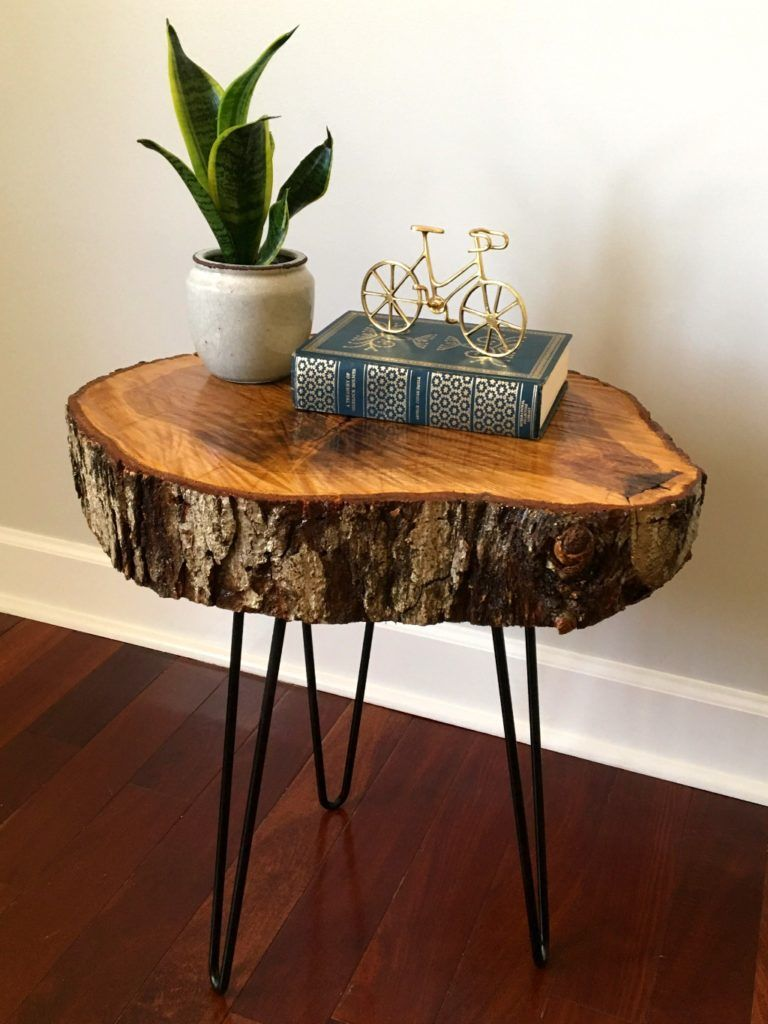 How To Make A Diy Tree Slice Table Wood Table Diy Tree Slices Diy Tree