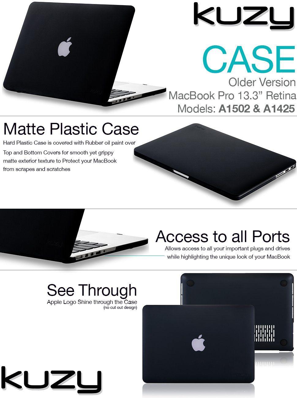 super popular 50b54 6a527 Amazon.com : Kuzy - Rubberized Hard Case for Older MacBook Pro 13.3 ...