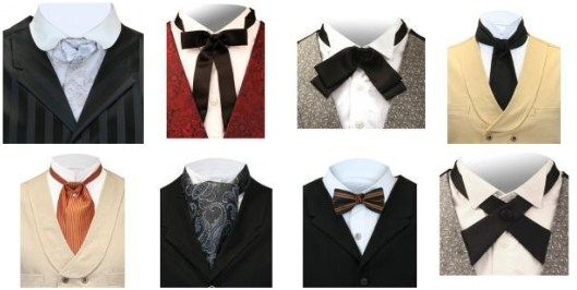 western ties | left to right): Satin Puff Tie ~ Silver $19.95 ...
