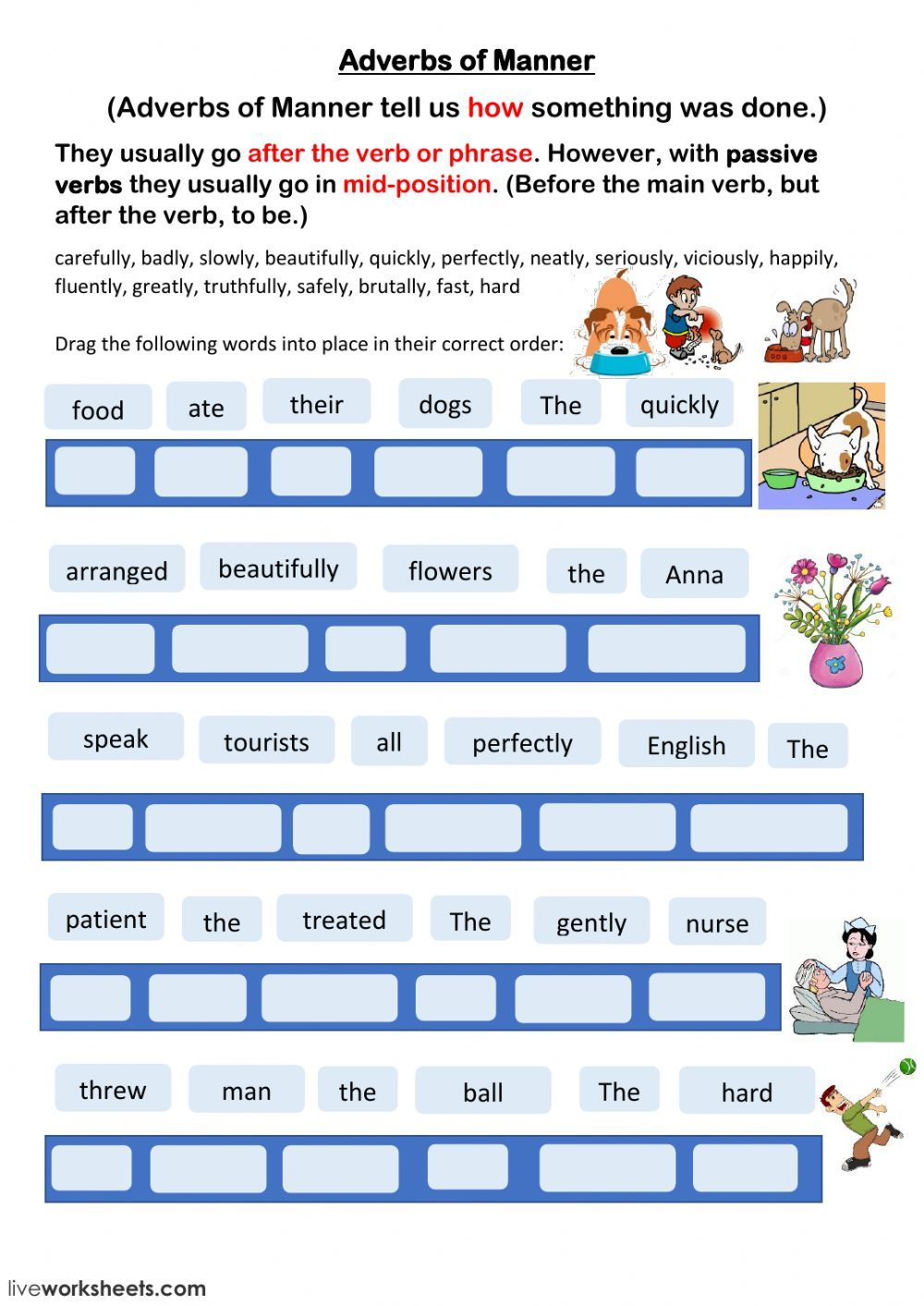 Adverbs of Manner English as a Second Language (ESL