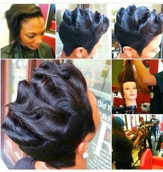 Fabulous 1000 Images About Fingerwave Hair Do On Pinterest Relaxed Hairstyle Inspiration Daily Dogsangcom
