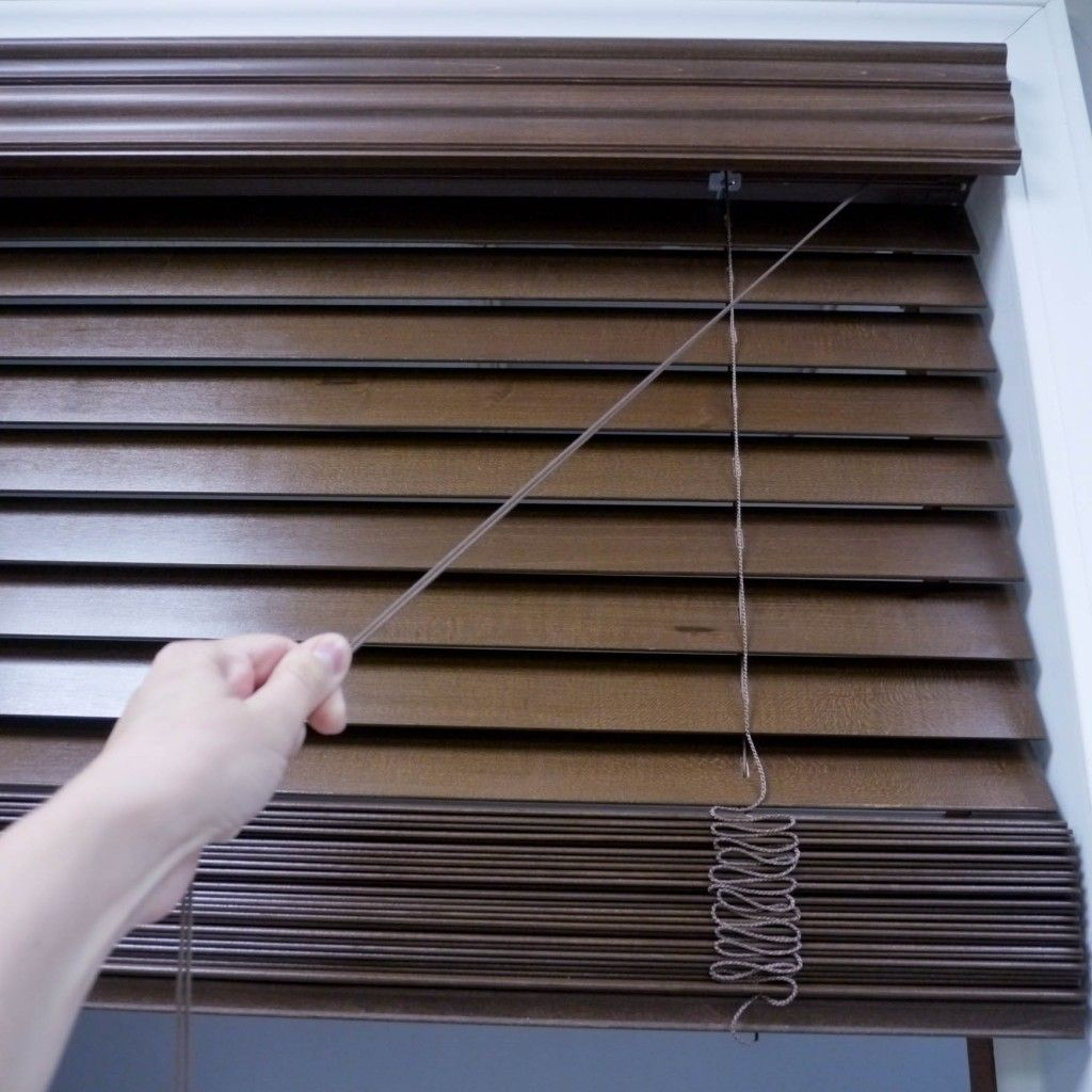 How To Install Wood Blinds And Faux