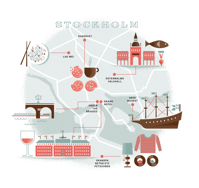 24 Hours In Stockholm map / Matt Pamer- inspiration for a liberties version