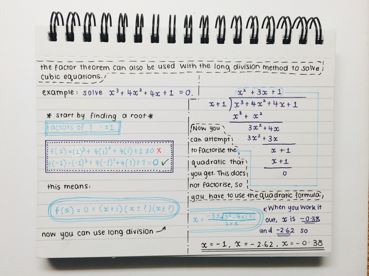Nehrdist: €�for The Anon Who Wanted To See My Notes On The Factor Theorem