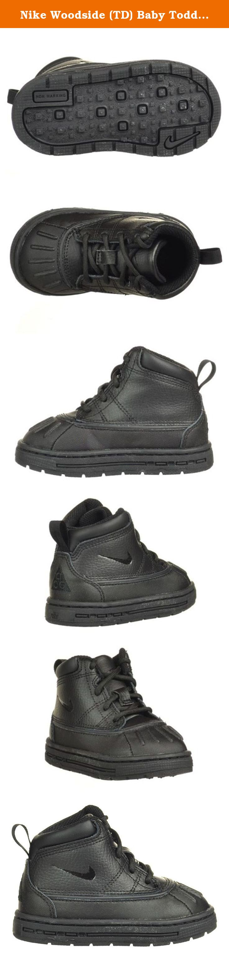 Nike Woodside (TD) Baby Toddlers Boots Black Black 415080-001-7.5.
