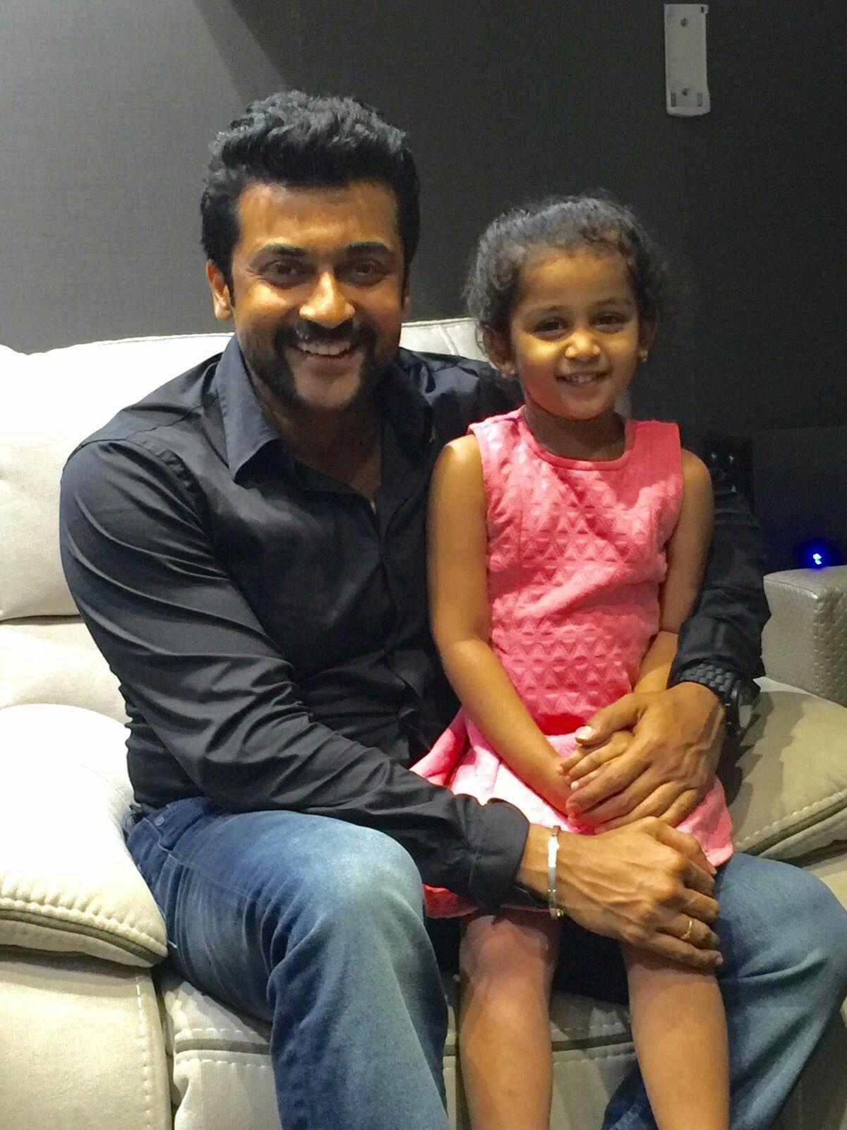 suriya with singer krish s daughter shivhiya stills and images
