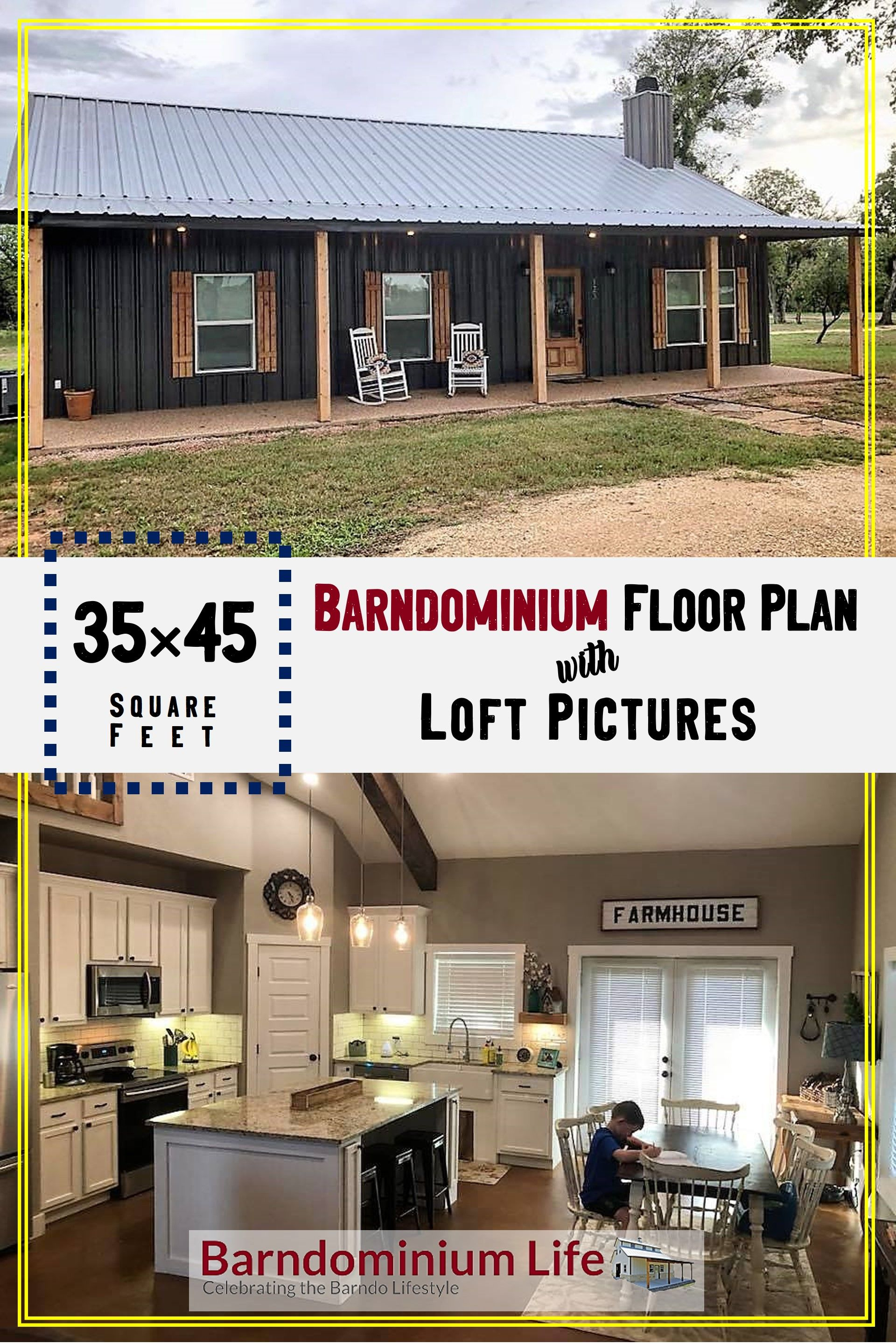 Barndominium Floor Plans with a Loft