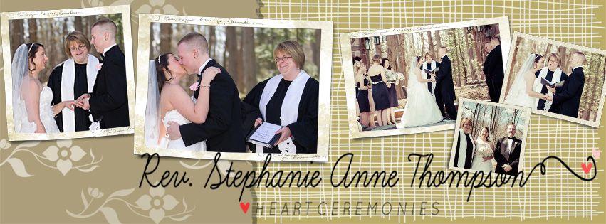 Stephanie Anne Thompson Wedding Officiant Heart Ceremonies Personalized Www Heartceremonies