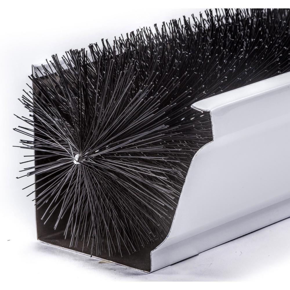 Gutterbrush Oversize 6 In 60 Ft Pack Max Flow Filter Brush Gutter Guard 6in 60ft The Home Depot Gutter Guard Gutter Leaf Guard Diy Gutters