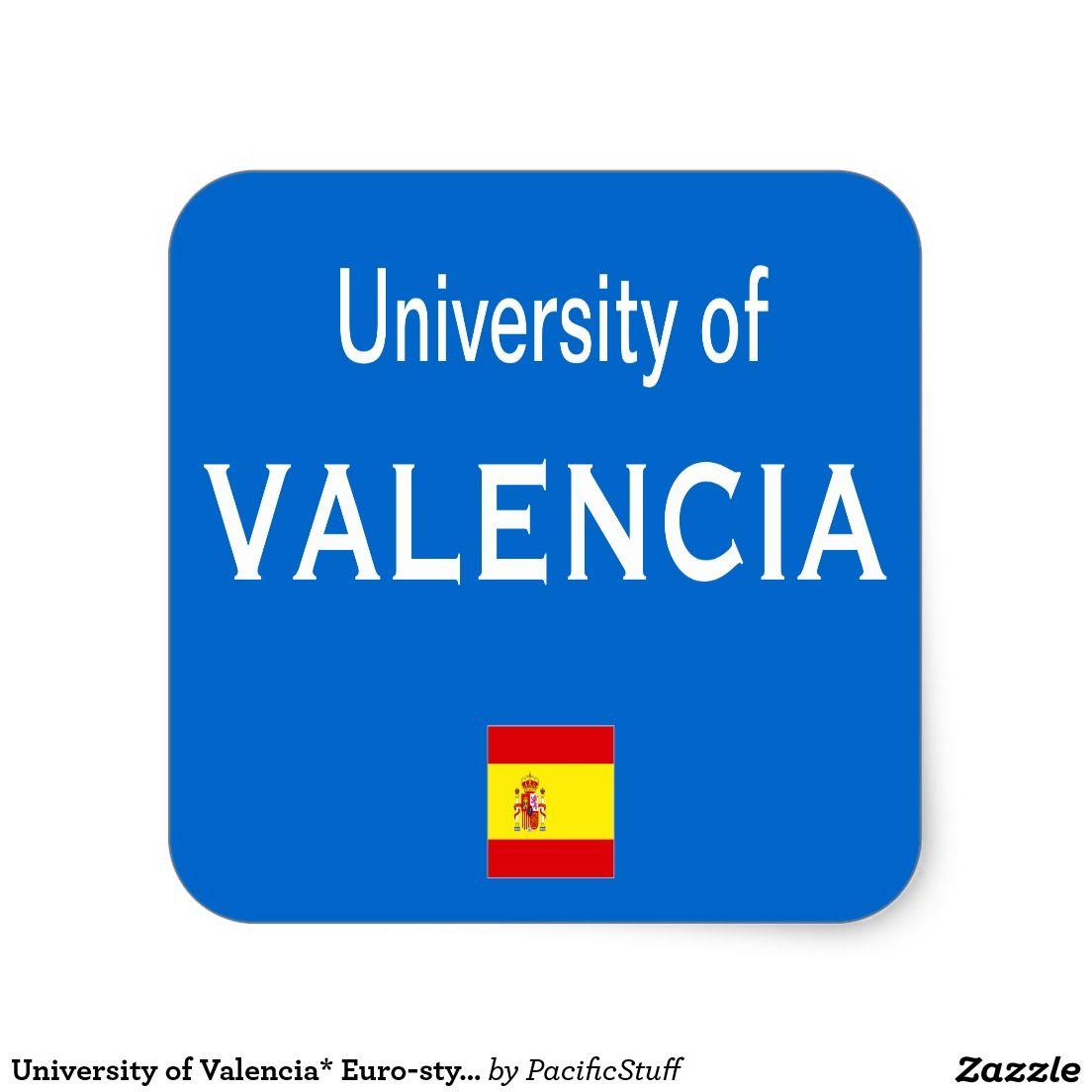 University of valencia euro style oval sticker custom gifts customized gifts valencia