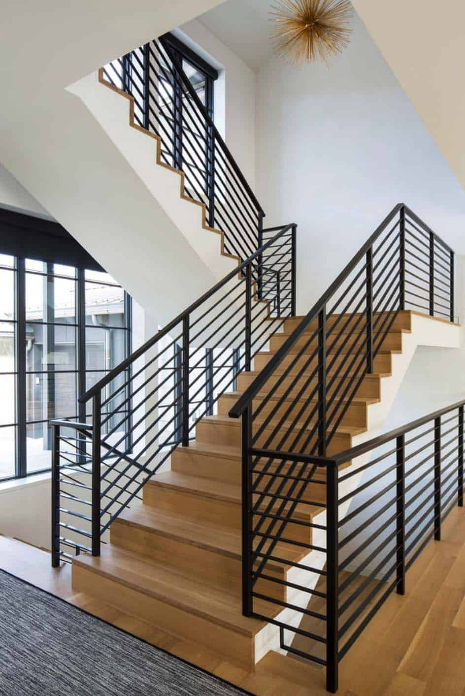 Fabulous Modern Farmhouse With Delightful Details In Minnesota Stair Railing Design Staircase Design Modern Stair Railing