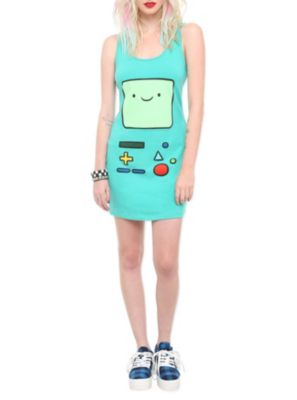 Adventure Time BMO Dress #Halloween Get 5% cash back http://www.studentrate.com/itp/get-itp-student-deals/Hot-Topic-Student-Discounts--/0
